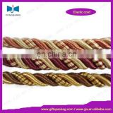 3 strand braided cotton rope,Three color twisted cotton rope,Fancy twisted cotton rope