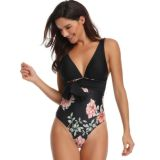 New European and American Siamese deep V swimwear wholesale
