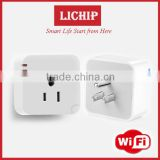 mini portable power bluetooth wifi wireless wall light American USA standard smart plug socket