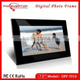 7-inch battery rechargeable digital photo frame with 800 x 480 Pixels Resolution and MP3 Player
