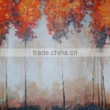 Talented Artists Unique Designed Abstract Fall Tree Oil Painting, Handmade Oil Pictures for Wall Art