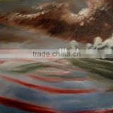 2015 Newly Design Dafen Factory Price Abstract Painting sea wave Picture Abstract Wall Paintings for Decoration black sky