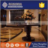 3,4,5 star hotel used furniture lobby wood carving flower table