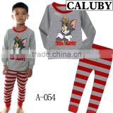 New Style Cartoon Design Kids Boys Long Sleeve Pajamas
