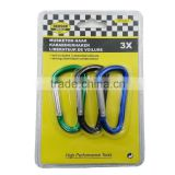 high performance safe aluminium metal carabiner hooks keychains