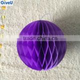 Purple Color Decorative Paper Ball Wedding Flower Event & Party Supplies Honeycomb Balls Decoration Christmas Ball