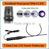 USB HD Pipe Inspection Camera Borescope Endoscope Tube Snake Waterproof with 7mm Diameter 6LED 7mm handheld industrial endoscope