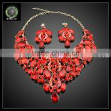 African jewelry sets factory wholesale 2016 new design gold plated necklace big set KHK726