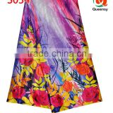 new design floral printed satin fabric, 2015 wholesale price beautiful silk satin fabric S034