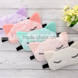 eyeshade,sleep eye mask,printing eyeshade, white satin patch Lovely lace cat eye mask for young girl                                                                         Quality Choice