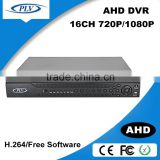 plv good price remote control hybrid 16ch cctv dvr h264 cms free software