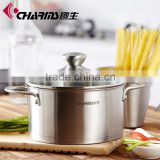 Stainless Steel Saucepot Perfect Family Soup Pot with Tempered Glass Lid Cooking Pot Cookware