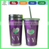 450ML High quality Double wall Glitter paper mug