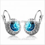 EZ-20 Online Sale Sapphire Zircon Set H65 Brass Based Crystal Star Earrings