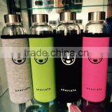 United Status APAVIATA High Borosilicate Glass Water Bottle with customized Unique neoprene Sleeve