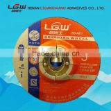 387 hot sale LGW abrasive 125*6*22 2.5NET depressed center grinding wheel FOR THAILAND MARKET