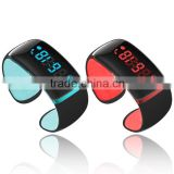 Flashing LED light smart bracelet, new model smart wristband with stock, bluetooth bracelet with customize logo for big orders