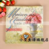 Vintage Style Plants Pattern 100% Eco-friendly Printed Tissue Napkin for Event and Daily Decoration