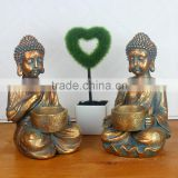 Tabletop decoration religious buddha with tea light holder