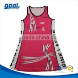 2015 Sublilmation girls sports soft netball uniform for school