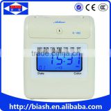 cheap electronic punch time card machine/card punch time clock