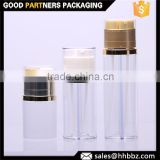 Get 100 US$ cash coupon clear plastic single wall empty lotion packing dual pump bottle                                                                         Quality Choice