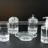 Clear Bubble Base Bath Accessories Set