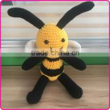 Handmade crochet stuffed toys knitted toys animal patterns little bee stuffed toys
