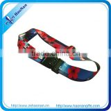 2015 fashion accessory heat transfer printing luggage belt for travel small quantity order