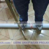 1.5M*5M Dark grey color adhesive back projection screen foil ,holographic Projection screen for window advertisig!!