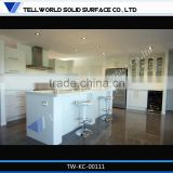 2014 new acrylic artifical stone modern design high gloss white kitchen cabinet/counter top