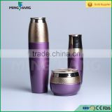 purple color suit skin care packing glass jars cosmetic cream jar lotion bottle with caps