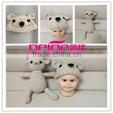 Wholesale Baby bear Hat Newborn Knitting Photography Prop Custom hat