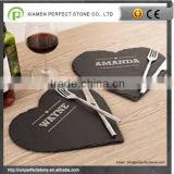 Slate Heart Shaped Placemats For Slate Cheese Board Set