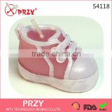S4118 PRZY Creative small candle silicone mold baby shoes handmade soap mold suppliers in China