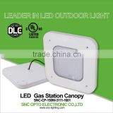 DLC/UL/cUL certification and Warm White Color Temperature 100W LED Canopy Light for car parking lot lighting