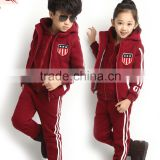 2016 fancy high quality children's fleece jogging suits for kids, fleece sweat suits for boys girls