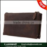 first layer of cowhide leather clutch bag for men double layer men wallet classical zipper wallet