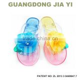 New women sandals summer shoes camellia slippers flip flops jelly shoes crystal flower sandals flats size:36-41