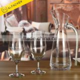 Slanting Mouth Crystal Wine Pouring Jug Water Glass Pitcher Barware Carafe Tasting Decanter
