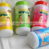 BABY CLEANING WIPES TUBE, baby wet tissue packed in canister