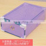 Hot Sale Clear Plastic Lockable Multi Storage Box Drawer Shoebox / assembling clothes box
