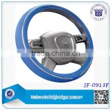 Blue color PU design your car Steering Wheel Cover