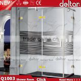 Stainless Steel Silk-screen 8mm Glass Shower Door Sliding Bathroom Sanitary Ware Shower Enclosure