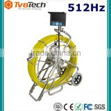 Stainless Wheel and Smooth Roller Guiding for Drain Inspection/Sewer Camera System with 512Hz Wireless Receiver