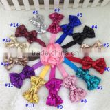 3inch Sequin Hair Bow Bow Headband Sequin Bow Headband Flopny Bow Headband Glitter Bow Headbands Baby Headwraps in Stock