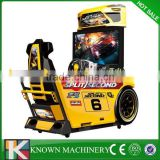 Coin operated 32'' Attracting motion racing simulator,racing motion simulator