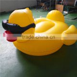 254Cm Giant Pool float Inflatable Yellow Duck with Glasses pvc Swimming Pool Toy in Factory stock