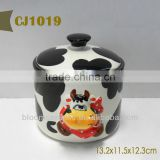 Cow design vinegar jar