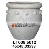 East Asia Planter Manufacturer Elegant Trading Round Poly Marbele